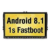Pumpkin 9 Zoll Android 8.1 Autoradio Moniceiver für VW mit Navi Unterstützt Bluetooth DAB + USB Android Auto WLAN 4G MicroSD 2 Din