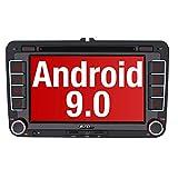 PUMPKIN Android 9.0 Autoradio für VW Radio mit Navi Unterstützt Bluetooth aptX, DAB + CD DVD Android Auto WiFi 4G USB MicroSD 2 Din 7 Zoll...