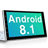 PUMPKIN Android 8.1 Autoradio Moniceiver mit Navi 10,1 Zoll IPS Bildschirm Unterstützt Bluetooth DAB + USB Android Auto WiFi MicroSD 1 Din 2 Din...