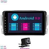Android 9.0 Autoradio, Hi-azul Car Radio 8 Zoll Car Stereo RAM 4G ROM 64G GPS Navigation Moniciver Navi für Mercedes-Benz CLK-W209 C209/ C Class...