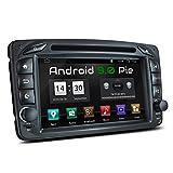 XOMAX XM-07ZA Autoradio mit Android 9 passend für Mercedes Viano CLK Vito, 4Core, GPS Navigation, DVD, CD I Support: WiFi, 4G, DAB+, OBD2 I...