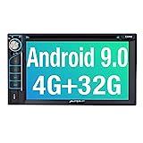 PUMPKIN Android 9.0 Autoradio Radio mit Navi und DVD Player 4GB / 8 Core Unterstützt Bluetooth DAB + USB CD DVD Android Auto WiFi 4G MicroSD 2 Din...