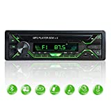 Aigoss Autoradio mit Bluetooth Freisprecheinrichtung, 1 Din Universal 60w x 4 Radio, FM/BT/USB/TF/SD MP3 Media Player, Drahtlose Fernbedienung...