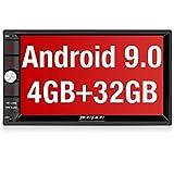 PUMPKIN Android 9.0 Autoradio Radio mit Navi 4GB / 8 Core Unterstützt Bluetooth DAB + Android Auto USB WiFi 4G MicroSD 2 Din 7 Zoll Bildschirm
