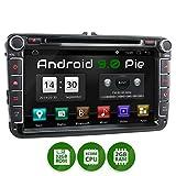 XOMAX XM-11GA Autoradio passend für VW, SEAT, Skoda mit Android 9.0 I 8 Zoll / 20,3 cm Touchscreen I GPS Navigation I DVD, CD, USB, SD I Support:...
