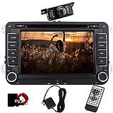 Eincar 7-Zoll-Doppel-DIN-Autoradio Bluetooth mit DVD-Player Autoradio Sat Nav mit freiem Diagramm Karte für VW POLO JETTA PASSAT Caddy + CANBUS...