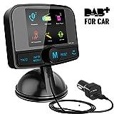 [ Bunter Bildschirm ] DAB/DAB+ Autoradio Adapter, Esuper Autoradio mit Bluetooth Freisprecheinrichtung + DAB Transmitter + FM Transmitter + Aux in/Out...