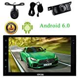 Externes Mikrofon + Android 6.0 2Din Car Stereo 7-Zoll-Touch-Screen-Auto-PC-Spieler mit Bluetooth WiFi 3G / 4G GPS Navigation USB/SD-Spiegel-Link...