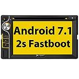 Pumpkin Android 7.1 Autoradio Moniceiver mit Navi Unterstützt Bluetooth DAB + WLAN Android Auto USB CD DVD SD Aux 2 Din Universal 6,2 Zoll Bildschirm