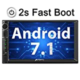 PUMPKIN Android 7.1 Autoradio Moniceiver 2GB mit Navi Unterstützt Bluetooth WLAN 4G DAB+ FastBoot Android Auto USB MicroSD Subwoofer 2 Din 7 Zoll...