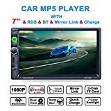 Lling (TM) Touchscreen-Autoradio In-Dash, Doppel-DIN, mit Bluetooth, MP3, MP4, MP5, Video Player, Lenkradfernbedienung, FM/AM/RDS-Tuner und...