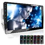 XOMAX XM-2V1004 Autoradio mit verstellbarem XXL Touchscreen Bildschirm (10' / 25 cm) I Mirrorlink I Bluetooth I Anschlüsse für externes Mikrofon und...
