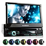 XOMAX XM-DTSB928 Autoradio mit 18cm I 7 Zoll HD Touchscreen Bildschirm, Bluetooth Freisprecheinrichtung, DVD CD Player, USB, SD, MP3, RDS, Aux, 1DIN,...