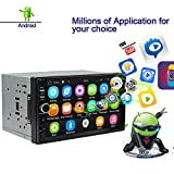 Ezonetronics Android Autoradio Stereo 7 Zoll Kapazitiver Touchscreen High Definition 1024x600 GPS Navigation Bluetooth USB SD Player 1G DDR3 + 16G...