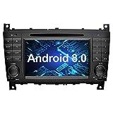 Ohok 7 Zoll Bildschirm 2 Din Autoradio Android 8.0.0 Oreo Octa Core 4G+32G Radio mit Navi Moniceiver DVD GPS Navigation Unterstützt Bluetooth WLAN...