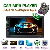 Lling (TM) Touchscreen-Autoradio In-Dash, Doppel-DIN, mit Bluetooth, MP3,MP4,MP5,Video Player, Lenkradfernbedienung, FM/AM/RDS-Tuner und...