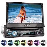 XOMAX XM-D750 Autoradio mit 18 cm / 7' Touchscreen I DVD, CD, USB, AUX I RDS I Bluetooth I Anschlüsse für Rückfahrkamera, Lenkradfernbedienung und...