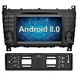 Ohok 7 Zoll Bildschirm 2 Din Autoradio Android 8.0.0 Oreo Radio mit Navi DVD GPS Navigation Unterstützt Bluetooth WLAN DAB+ für Mercedes-Benz...
