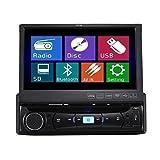 TUVVA KSD7843B Autoradio In-Dash 1-DIN 18 cm Motorisierter Touch Bildschirm DVD / CD / USB / AUX / MP4 / MP3 Player Receiver RDS-Radio Bluetooth Audio...