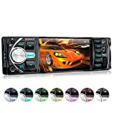 XOMAX XM-VRSU414BT Autoradio mit 10 cm Bildschirm, Bluetooth Freisprecheinrichtung, 7 Farben einstellbar, USB, Micro SD, AUX IN,1 DIN