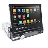 Android 8.1 Single 1 Din Car Stereo 7 Inch In Dash Radio New DVD Player Detachable Panel GPS Sat Nav Touchscreen Support Navigation...