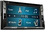 JVC KW-V240BT DVD-/CD-/USB-Receiver, integrierter Bluetooth-Technologie und 15,7 cm (6,2 Zoll) Touch-Panel mit VGA-Auflösung schwarz