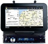 Creasono 1 DIN Autoradio: Autoradio CAS-4500tab mit Bluetooth & Tablet-Halterung bis 17,8cm / 7' (Android Tablet als Autoradio)