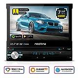 NEOTONE NDX-150A | universelles 1DIN Autoradio | Navigation mit Europakarten 2019 | DAB+ Unterstützung | DVD | 7 Zoll | 16GB inkl | WLAN | Bluetooth...