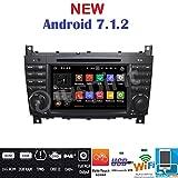 Android 7.1GPS DVD USB SD Wlan Bt Autoradio 2Din NAVI Mercedes C-Klasse W203/C220/C230/C240/C280/CLK-Klasse W209/CLK200CLK220/CLK 240/Mercedes...