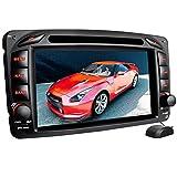 XOMAX XM-01Z Autoradio passend für Mercedes W203, W463 mit GPS Navigation I Bluetooth Freisprecheinrichtung I 7'' / 18cm Touchscreen Bildschirm I...