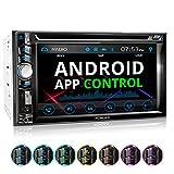 XOMAX XM-2D6224 RDS Autoradio mit 6,2' / 15,7 cm Touchscreen Bildschirm I Bluetooth I DVD, CD, USB, SD, AUX I Anschlüsse für Rückfahrkamera,...