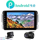 Android 9.0 Autoradio, Hi-azul Car Radio 8 Zoll Car Stereo GPS Navigation Moniciver Navi Car Audio für Mercedes-Benz CLK-W209 C209/ C Class W203/...