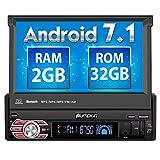 PUMPKIN Android 7.1 32GB + 2GB Autoradio Moniceiver 1 DIN mit Bildschirm und Navi Unterstützt Bluetooth DAB+ WLAN Subwoofer USB MicroSD...
