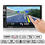 OCDAY Europe Traffic Auto GPS Navigation MP5 Spieler, Lifetime Maps Auto Radio Stereo Receiver Doppel din 7 ' Zoll Full HD Touchscreen mit Bluetooth...