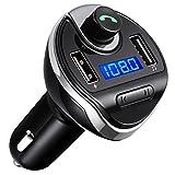 Criacr FM Transmitter, Bluetooth FM Transmitter, KFZ Auto Radio Adapter Freisprecheinrichtung Car Kit Mit Dual USB-Port, Unterstützung, um...