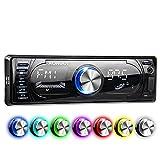 XOMAX XM-RSU260BT Autoradio mit Bluetooth Freisprecheinrichtung + RDS FM AM Radio Tuner + 7 Beleuchtungsfarben + USB Anschluss (bis 128 GB) & SD...