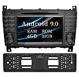 Ohok 7 Zoll Bildschirm 2 Din Autoradio Android 9.0 Pie Octa Core 4G+32G Radio mit Navi Moniceiver DVD GPS Navigation Unterstützt Bluetooth WLAN DAB+...