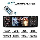 Touchscreen Autoradio Bluetooth MP5, MEKUULA USB/Receiver mit Audio Empfänger/MP5-Player/UKW/FM Radio für Samsung/iPhone, USB/TF/AUX...