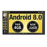 Pumpkin Android 8.0 Autoradio Moniceiver mit GPS Navi 4GB Unterstützt Bluetooth DAB+ WLAN 4G USB CD DVD Android Auto MicroSD 2 Din 6,2 Zoll...