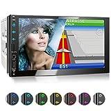 XOMAX XM-2VN751 Autoradio mit Mirrorlink, GPS Navigation, Navi Software, Bluetooth Freisprecheinrichtung, 7 Zoll / 18cm Touchscreen Bildschirm, FM...