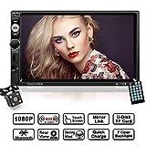 Autoradio 2 Din mit 7 Zoll HD 1080P Touchscreen, LESHP Auto Radio MP5 Spieler unterstützt Mirrorlink/Bluetooth / Freisprecheinrichtung/AM / FM/RDS...