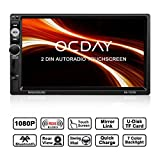 Doppel Din Autoradio,OCDAY 2 Din Autoradio mit FHD Touchscreen,Autoradio MP5 Spieler Bluetooth,Mirrorlink((Android Phone),USB/TF/ FM/AM/RDS Radio...