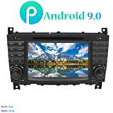 Hi-azul Android 9.0 Autoradio, Car Radio 7' Car Stereo 4-Core GPS Navigation Moniciver Navi Car Audio mit CD/DVD-Player für Mercedes-Benz C Class...