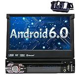 Eincar Android 6.0 Autoradio Einzel Din Head Unit 7 Zoll-Auto-Stereoanlage mit einstellbarem Betrachtungswinkel Suppport GPS Sat Navigation,...