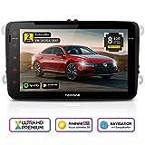 NEOTONE WRX-980A Autoradio für VW | Skoda | Seat | Navigation mit Europakarten 2019 | 8 Zoll | DVD | DAB+ Unterstützung | USB | Octa-Core | 4K Ultra...