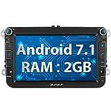 Pumpkin Android 7.1 Autoradio Moniceiver für VW Polo Golf Passat mit GPS Navi 8 Zoll Bildschirm Unstersttzt Bluetooth DAB+ Android Auto WLAN 4G USB...