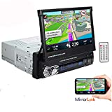 Boomboost 1 Din 7 Zoll 1080P Autoradio Stereo Player LCD Touchscreen Unterstützung Bluetooth Hände frei