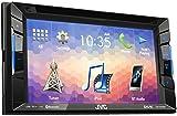 JVC KW-V230BT DVD-/CD-/USB-Receiver mit Integrierter Bluetooth-Technologie und 15,7 cm (6,2 Zoll) Touch-Panel mit VGA-Auflösung schwarz