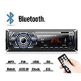 Kdely Autoradio mit Bluetooth Freisprecheinrichtung, Radio Tuner 1 Din, FM/USB/MP3/WMA/WAV/TF-Media Player/Fernbedienung, Single Din Universal...