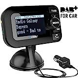 [PLUG & PLAY] DAB Autoradio, Esuper DAB Transmitter Tragbar DAB+ Digitales Radio Adapter mit Bluetooth FM Transmitter + Aux-in/out + USB KFZ...